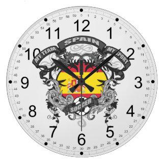 Fútbol España Reloj De Pared