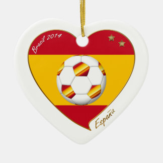 "FÚTBOL ""ESPAÑA"" Spain Football Spanish Soccer Team Ornamento Para Reyes Magos"