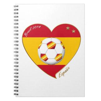 "FÚTBOL ""ESPAÑA"" Spain Football Spanish Soccer Team Libreta Espiral"