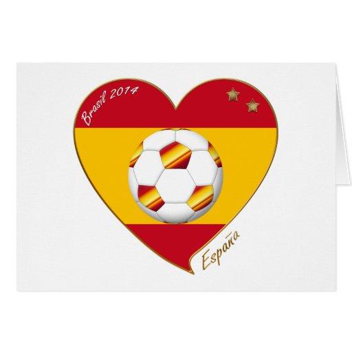 """FÚTBOL """"ESPAÑA"""" Spain Football Spanish Soccer Team Felicitación"""
