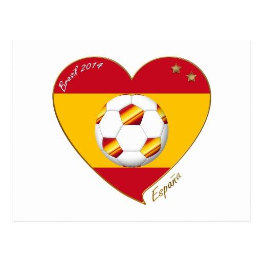 "FÚTBOL ""ESPAÑA"" Spain Football Spanish Soccer Team Tarjetas Postales"