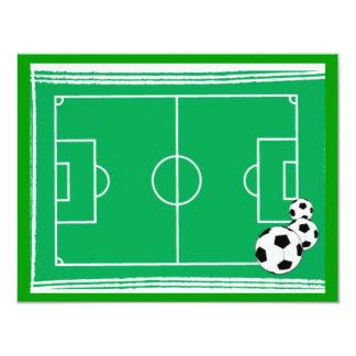 """fútbol-estadio invitación 4.25"""" x 5.5"""""""