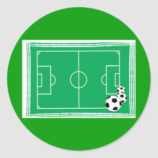 fútbol-estadio etiqueta redonda