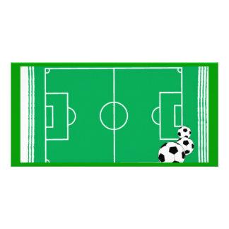fútbol-estadio tarjeta fotográfica