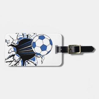 fútbol etiquetas maleta