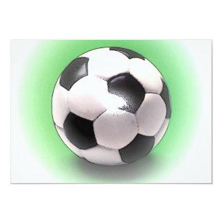 Fútbol europeo BRITÁNICO Invitación 12,7 X 17,8 Cm