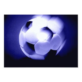 Fútbol europeo invitación 12,7 x 17,8 cm