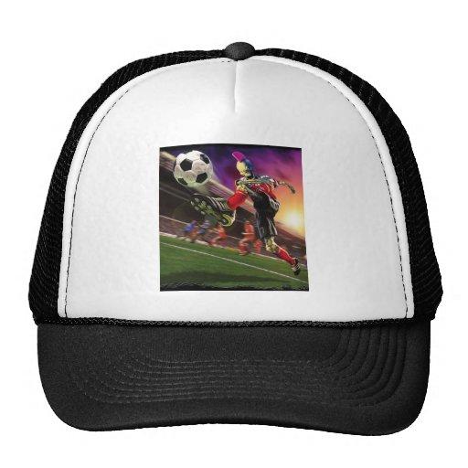 Fútbol extremo de los zombis gorras de camionero