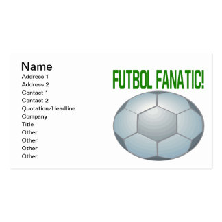Futbol Fanatic Double-Sided Standard Business Cards (Pack Of 100)