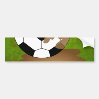 Fútbol fangoso pegatina para auto