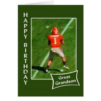 Fútbol - feliz cumpleaños grande - nieto tarjeta de felicitación