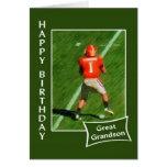 Fútbol - feliz cumpleaños grande - nieto tarjetón