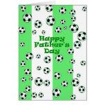 Fútbol feliz del día de padre felicitaciones