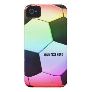 Fútbol femenino colorido del fútbol el   Case-Mate iPhone 4 protectores