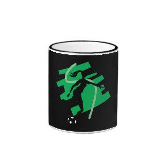 Fútbol femenino taza de café