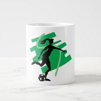 Fútbol femenino tazas extra grande