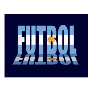 Futbol flag worded soccer lovers Argentina gifts Postcard