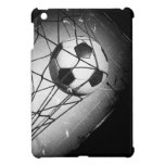 Fútbol fresco del Grunge del vintage en meta iPad Mini Protectores