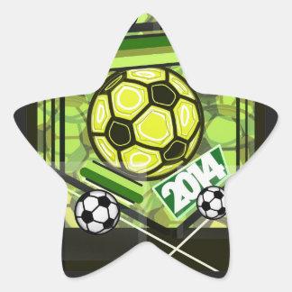 fútbol,… fútbol,… 2014… calcomanías forma de estrellas