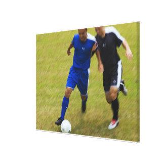 Fútbol (fútbol) 8 impresión en lienzo estirada