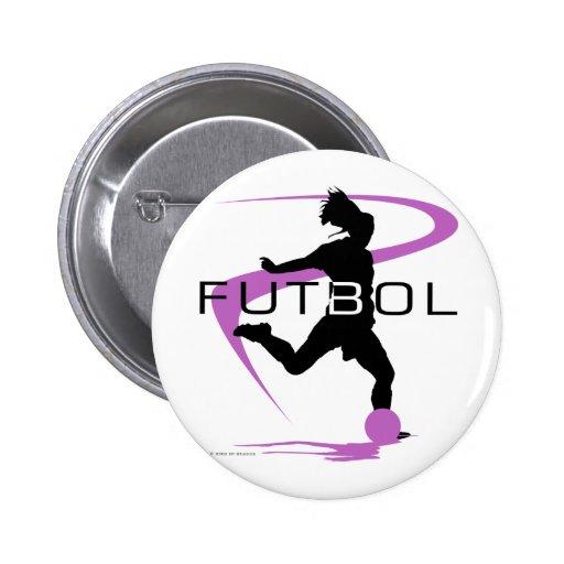 Fútbol Futbol - chicas - rosa Pin