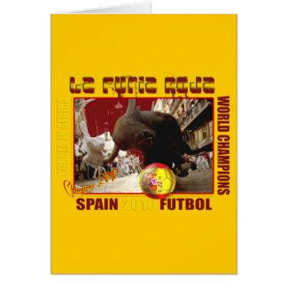 Fútbol Futbol de Bull del español de Furia Roja de Tarjeton