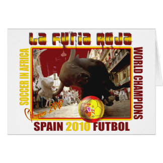 Fútbol Futbol de Bull del español de Furia Roja de Tarjeta