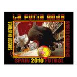 Fútbol Futbol de Bull del español de Furia Roja Tarjetas Postales