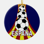 Fútbol Fútbol de Espana España Adorno Navideño Redondo De Cerámica