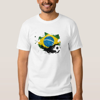 Fútbol/fútbol de la camiseta del Brasil Playeras
