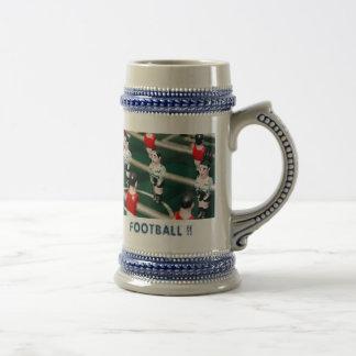 Fútbol/fútbol de la tabla jarra de cerveza