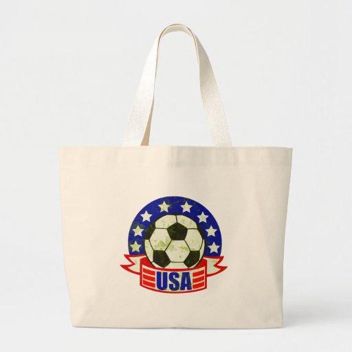 Fútbol Futbol de los E.E.U.U. Bolsa Tela Grande
