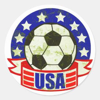 Fútbol Futbol de los E E U U Etiquetas Redondas