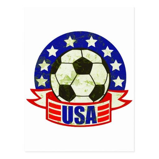 Fútbol Futbol de los E.E.U.U. Tarjeta Postal