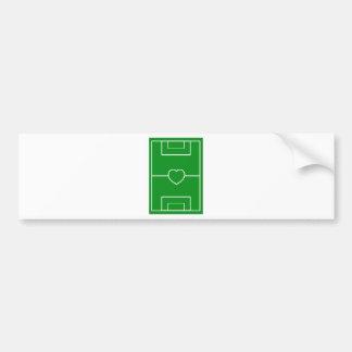 fútbol, fútbol del amor del corazón Pitch.l Pegatina Para Auto