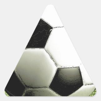 Fútbol - fútbol pegatina triangular