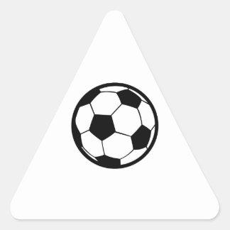 Fútbol grande pegatina triangular