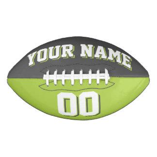 Fútbol gris oscuro y de la verde lima BICOLOR del Balón De Fútbol Americano