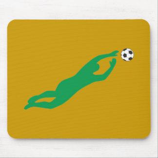 Fútbol guardameta soccer goal keeper alfombrillas de ratones