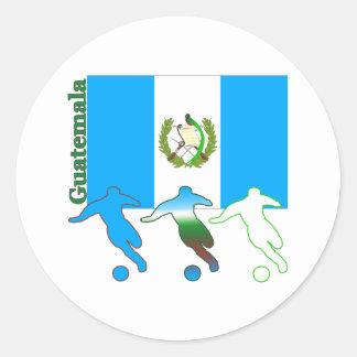 Fútbol Guatemala Etiqueta Redonda