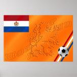 Fútbol holandés 2014 de la bandera de Holanda del  Poster