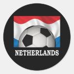 Fútbol holandés etiquetas redondas