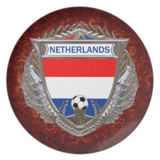 Fútbol holandés plato de cena