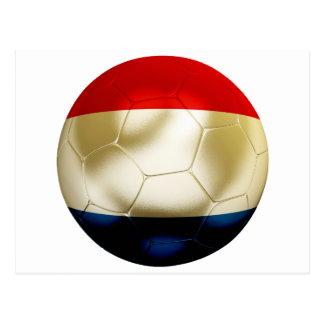 Fútbol holandés tarjeta postal