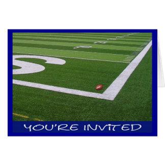 Fútbol/invitación del fiesta de Superbowl Felicitacion