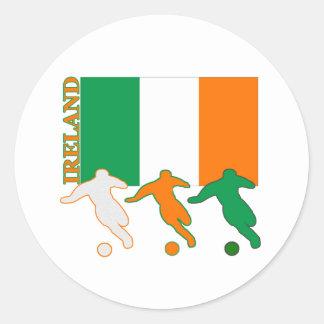 Fútbol Irlanda Pegatina Redonda