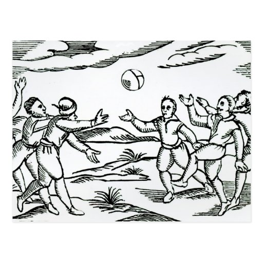 Fútbol isabelino tarjetas postales