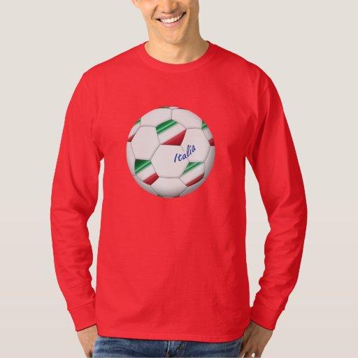 FÚTBOL ITALIA balón y bandera del equipo nacional Playera