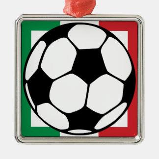 futbol. italia square. metal ornament