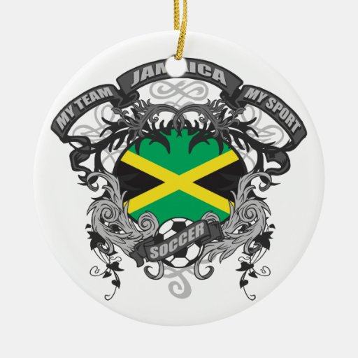Fútbol Jamaica Adorno Navideño Redondo De Cerámica